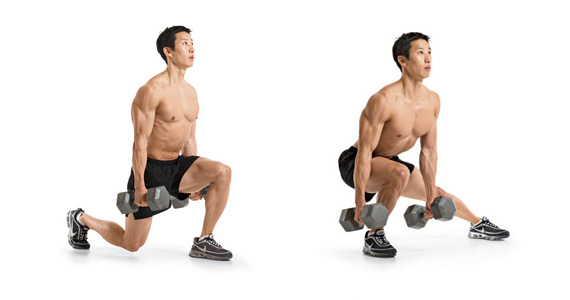 Three-Way Lunges