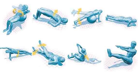 Core exercises for cyclists